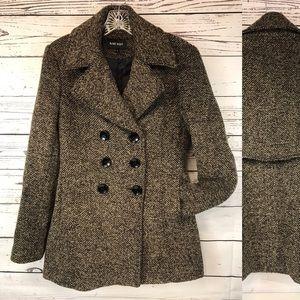 Nine West Pea Coat Herringbone LK NW 4